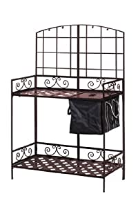 Panacea Products Potting Bench with Soil Reservoir, Bronze (Discontinued by Manufacturer)