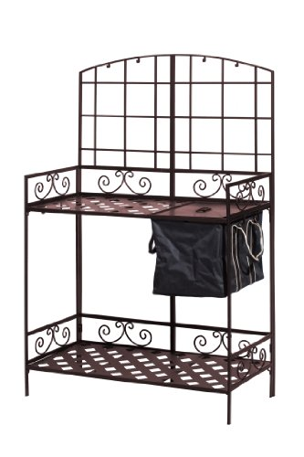 Panacea Products Potting Bench with Soil Reservoir, Bronze