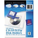 """Avery Consumer Products Products - Zip/CD/DVD Pockets, Self Adhesive, Vinyl, 10/PK, Clear - Sold as 1 PK - Self-adhesive pockets easily attach Zip disks, CDs, DVDs and 3-1/2"""" diskettes to binders, file folders and report covers. The vinyl holders have an easy peel-off backing with a permanent adhesive that adheres well to many surfaces. Fold-over flap prevents Zip disks, CDs and DVDs from falling out."""