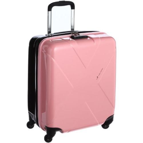 [ヒデオワカマツ] HIDEO WAKAMATSU マックスキャビン 機内持ち込みサイズ 容量最大級 TSAロックスーツケース 85-75416 06 (ピンク×セピア)