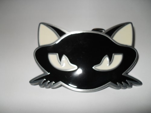 Cat Head Kitty Belt Buckle Black and White