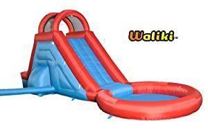 Waliki's Lazy Pool Tall Inflatable Water Slide & Water Park (Bounce House)