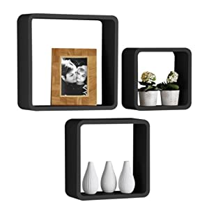 ... 2401347 Set di 3 Cubi da Parete, Nero: Amazon.it: Casa e cucina
