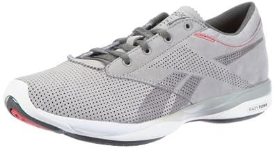Reebok Easytone Pride 150344, Damen Sportschuhe - Fitness, Grau (grey/rived grey/white/mazz red 91), EU 36 (UK 3.5)