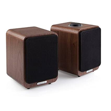 RUA MR1-WALNUT Haut-parleurs Bluetooth actifs pour TV, audio ou ordinateurs
