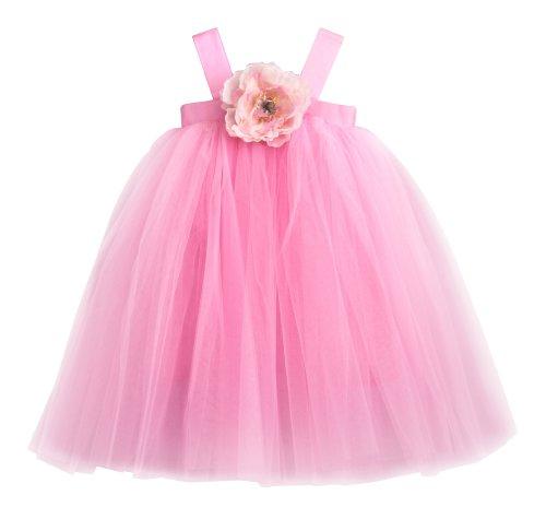 9fd7fa9ae Flower Girl Dress Pink Tulle Wedding Dress for Little Girl Birthday Baby  and Toddler Tutu Dress