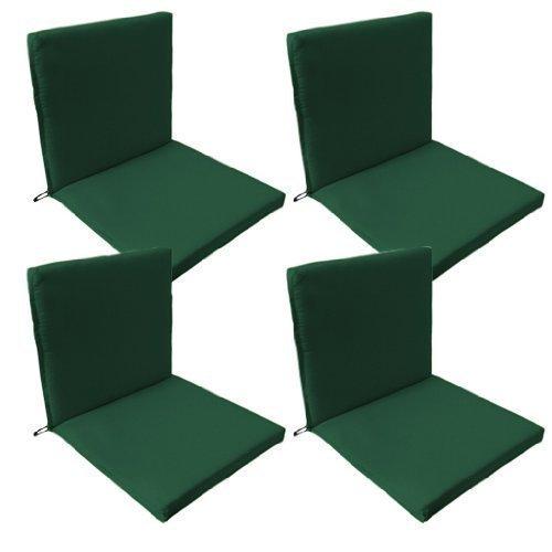Garten Sessel Sitz Polster / Überzüge , 4er Pack in Grün , Passt sicher mit Bändern und Elastischen Überzug auf der Rückseite. Super für Innen und Außen, Hohe Qualität, Wasserdichtes Material