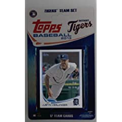 Buy 2013 Topps Team Edition Detroit Tigers Factory Sealed Baseball Cards Team Set (17 Cards) by Team Edition