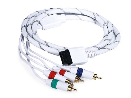 6FT Audio Video ED Component Cable for Wii - White(Net Jacket)