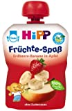 Hipp Erdbeere-Banane in Apfel, 6-er Pack (6 x 90 g) - Bio