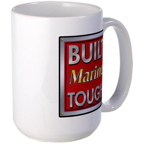 Cafepress Built Marine Tough Large Mug Large Mug - Standard