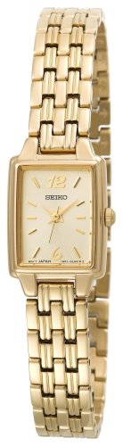 Seiko Womens SXGL62 Dress Gold-Tone Watch