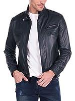 GIORGIO DI MARE Cazadora Piel Leather Jacket (Azul Marino)