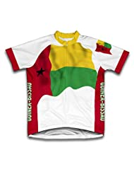 Guinea-Bissau Flag Short Sleeve Cycling Jersey for Women