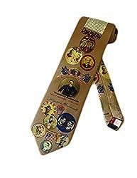 Museum Artifacts Mens President Teddy Roosevelt Necktie - Beige - One Size Neck Tie