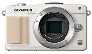 Olympus E-PM2 Interchangeable Lens Digital Camera, White (Body Only) (Old Model)