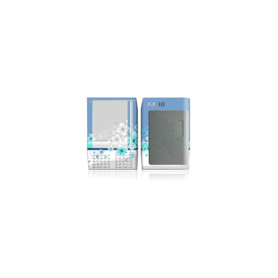 Flower Burst Blue Design Protective Decal Skin Sticker for  Kindle E Book Reader (Version 1.0)