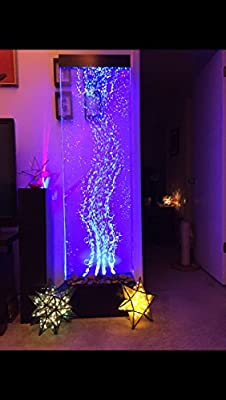 "72""x19"" XXL dancing Bubble Fountain, floor Standing, Color Lights/ Remote Ctrl By Jersey Home Decor"