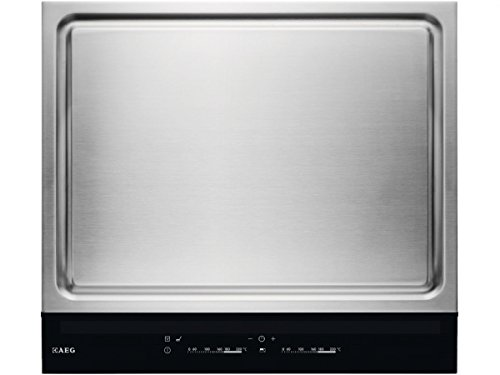 AEG-HC652601EB-Kochfeld-Teppan-Yaki-Edelstahl-autark-Kochmulde-Grillplatte-58cm