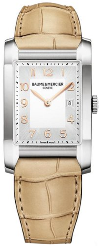 Baume and Mercier Hampton Silver Dial Stainless Steel Ladies Watch MOA10081