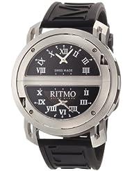Ritmo Mundo Men's 201/2 SS Quartz Persepolis Triple Time Zone Orbital Case Watch