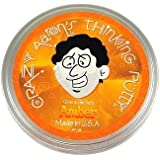 Crazy Aarons Amber Glow In The Dark Thinking Putty Mini Tin
