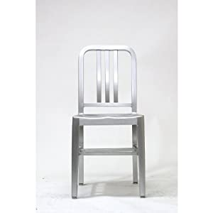 Surprising Emeco Navy Style Aluminum Side Chair Set Of 2 Dining Caraccident5 Cool Chair Designs And Ideas Caraccident5Info