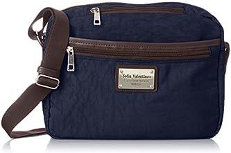 [ソフィアバレンチノ] Sofia Valentino マーブル 2層ショルダーバッグ 4991 コン (ネイビー)