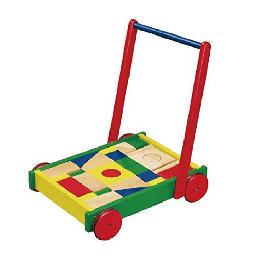 VIGA Wooden Baby Walker with 36 blocks - 1