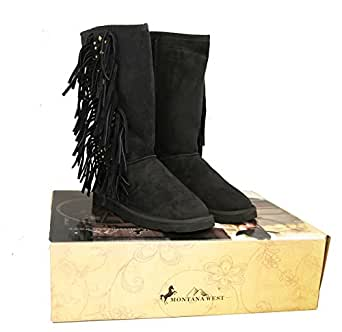 Amazon.com: Montana West Women Boots Fringe Collection