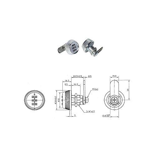 Zahlenschloss-19X29MM-fr-Briefkasten-Spind-Schrank-Briefkastenschloss-Mbelschloss-3-stelliger-Zahlencode-individuell-einstellbar