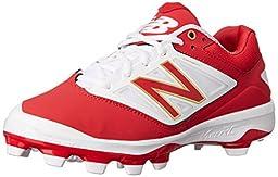 New Balance Men\'s PL4040V3 TPU Baseball Shoe, Red/White, 11 D US