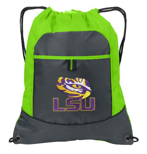 Lsu Neon Green Drawstring Bag Lsu Tiger Eye Lightweight Cinch Backpack Bags