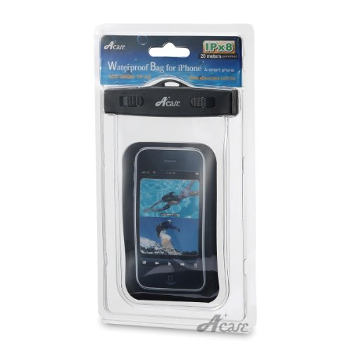 Acase 防水ケース クリア XL ストラップ 付 for iPhone5S / iPhone5C / iPhone5 / GALAXY S4 / GALAXY S III / ARROWS / AQUOS Phone / Xperia Z / Xperia A Waterproof シースルー 防水 ケース 防水保護等級 : IPx8 | iPhone 5S / iPhone 5C 対応