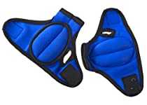 ProSource Pair of Fitness Heavy Duty 2-Pound  Neoprene Weighted Sculpting Gloves (Blue)