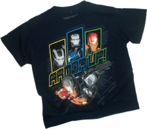 Chin Down - Armor Up! -- Iron Man 3 Movie Juvenile T-Shirt