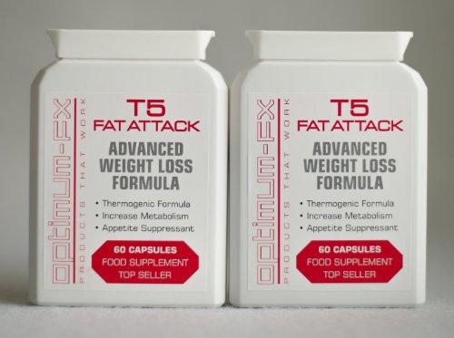 Optimum-fx T5 Fat Attack - Fórmula avanzada para perder peso. ¡Compra 2 y obtén un descuento de €6! ¡Suministro para 2 meses! ¡12 Bonos GRATIS!