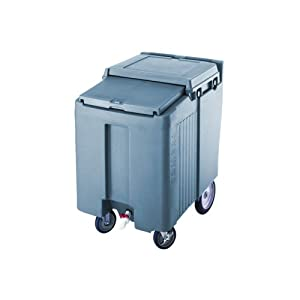 Cambro ICS125T-401 Sliding Lid Polyethylene Tall Ice Caddy, 38-1/16-Inch, Slate Blue