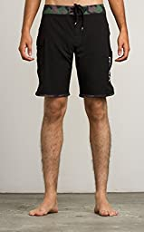 RVCA Men\'s Eastern Trunk Boardshort, Black, 36