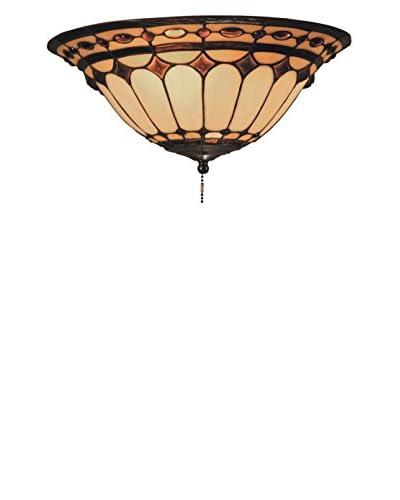Artistic Lighting Diamond Ring 2-Light Ceiling Mount, Burnished Copper