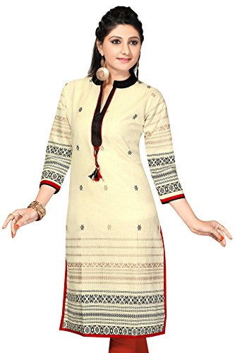 Khadi long Pakistani cotton Pocket kurtis(Size
