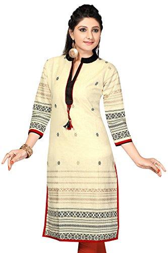 Khadi long Pakistani cotton Pocket kurtis(Size