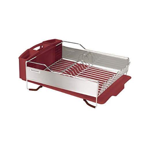 Kitchenaid Gourmet Stainless Steel Panel Dish Rack Red