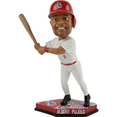 MLB St. Louis Cardinals Albert Pujols #5 Home Base Plate Bobble Head by Forever Collectibles