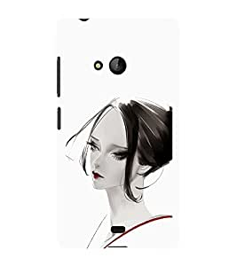 iFasho Chinese Girl Back Case Cover for Nokia Lumia 540