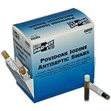 Pac-Kit 10-004 Antiseptic Povidone PVP Iodine Swab, 0.018 oz Capacity (Box of 10)