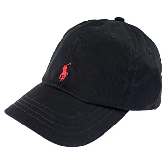 polo ralph lauren baseball cap black red pony at amazon. Black Bedroom Furniture Sets. Home Design Ideas