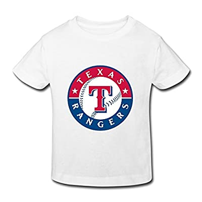 Ambom Texas Rangers Little Boys Girls 100% Cotton T Shirt For Toddlers