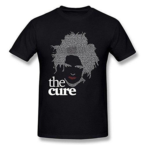 Uomo's The Cure 2016 World Tour Concert Robert Smith Nero T Shirt Medium