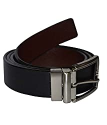 Kesari's Black Leather Single Belt For Men (BELT1A-DN75)